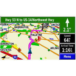 Garmin StreetPilot 7500 Map