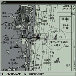 Lowrance GlobalMap 4800M Map