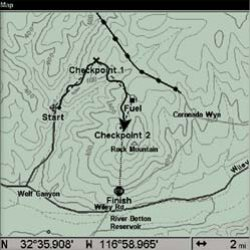 Lowrance GlobalMap Baja Map